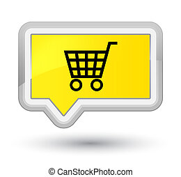 Ecommerce icon prime yellow banner button