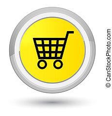 Ecommerce icon prime yellow round button