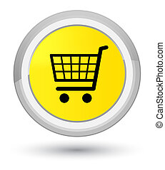 Ecommerce icon prime yellow round button
