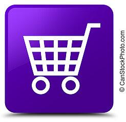 Ecommerce icon purple square button