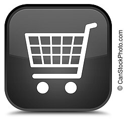 Ecommerce icon special black square button