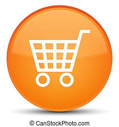 Ecommerce icon special orange round button