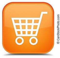 Ecommerce icon special orange square button