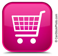 Ecommerce icon special pink square button