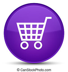 Ecommerce icon special purple round button
