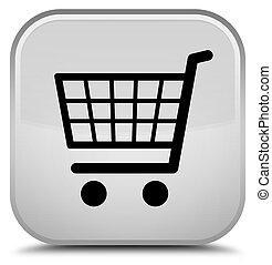 Ecommerce icon special white square button