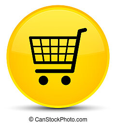 Ecommerce icon special yellow round button
