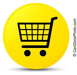 Ecommerce icon yellow round button