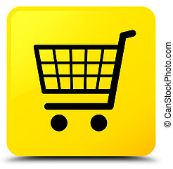 Ecommerce icon yellow square button