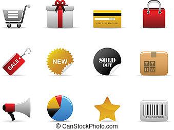 ecommerce, icone