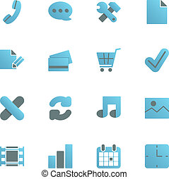 Ecommerce iconset for web design
