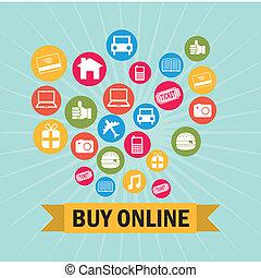 ecommerce design over blue background vector illustration