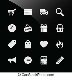Ecommerce Shopping Web Icons - A set of ecommerce icon with ...
