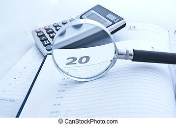 económico, calculations., accounting., el, presupuesto