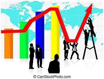 económico, jointly, trabajando, recuperación