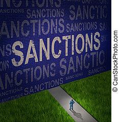econômico, sanções