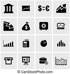 econômico, vetorial, pretas, ícone, jogo
