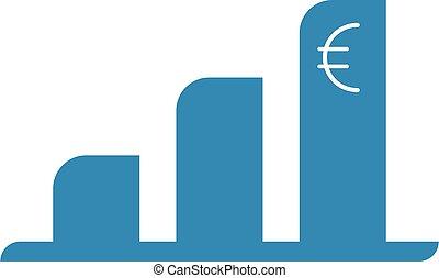 economía, arriba, euro