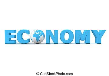 economía, mundo, azul