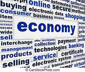 economia, manifesto, disegno