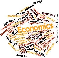economia, parola, nuvola