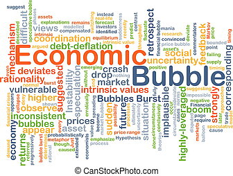 Economic bubble background concept - Background concept...