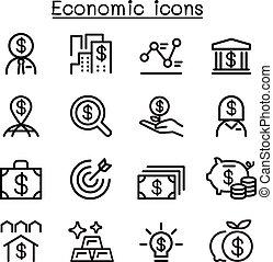 Economic , Business & Investment icons set