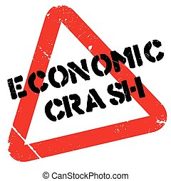 Economic Crash rubber stamp. Grunge design with dust...