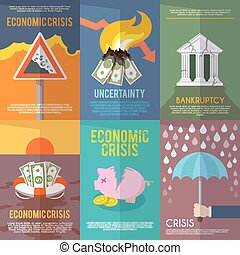 Economic Crisis Poster - Economic crisis mini poster set...