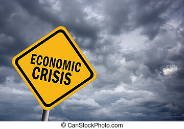 Economic crisis sign - Illustrated economic crisis sign