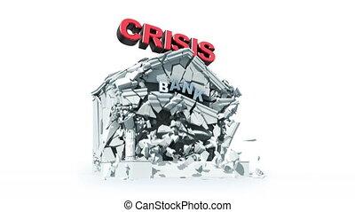 economic crisis - economic crisis, 3d animation