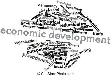 Economic development - Abstract word cloud for Economic...
