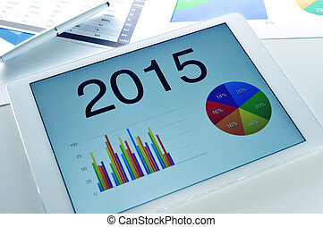 economic forecast for 2015 - different charts with the...