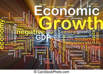 Economic growth background concept glowing - Background...