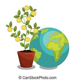 economic growth design, vector illustration eps10 graphic
