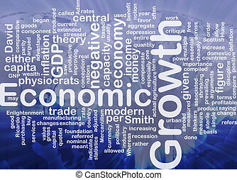 Economic growth is bone background concept - Background...