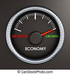 Speed meter indicates economic growth