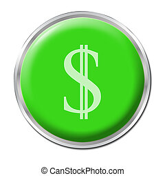 Economic Help Button - isolated round button starting the...