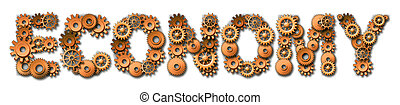 Economic Industrial Concept With Gears