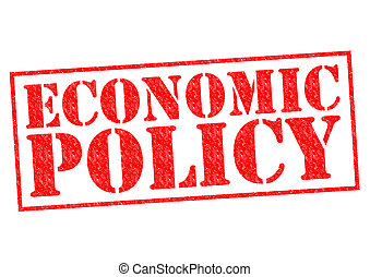 ECONOMIC POLICY red Rubber Stamp over a white background.