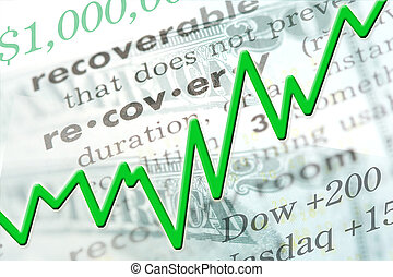 Economic Recovery - Economic recovery graphic with line...