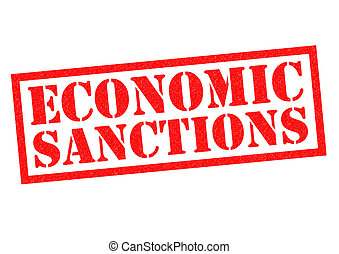 ECONOMIC SANCTIONS red Rubber Stamp over a white background.