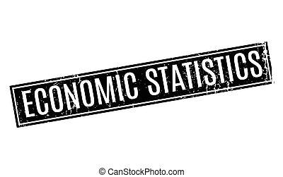Economic Statistics rubber stamp. Grunge design with dust...