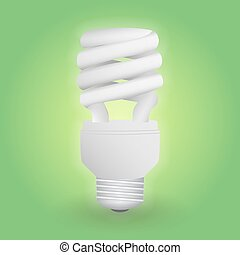 Economical fluorescent light bulb. Save energy lamp. ...
