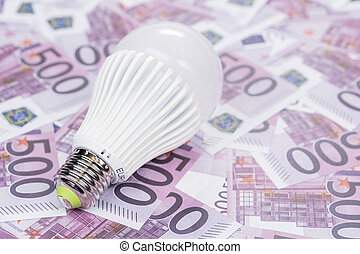 economical led lamp on the money