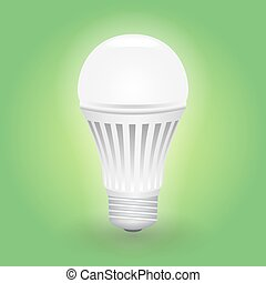Economical LED light bulb. Save energy lamp.