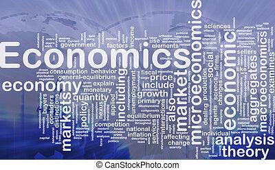 Economics background concept - Background concept wordcloud ...