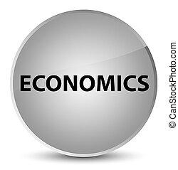 Economics elegant white round button