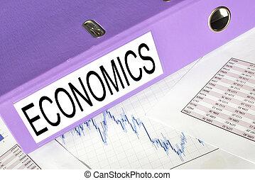 ECONOMICS folder on a market report