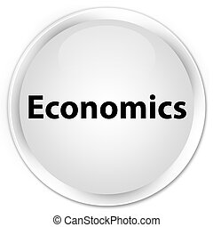 Economics premium white round button